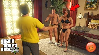 GTA 5 - Michael CAUGHT AMANDA With The Tennis Coach (secret)