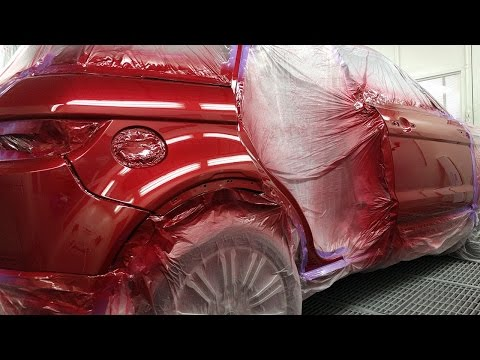 Range Rover Evoque, Spray Painting