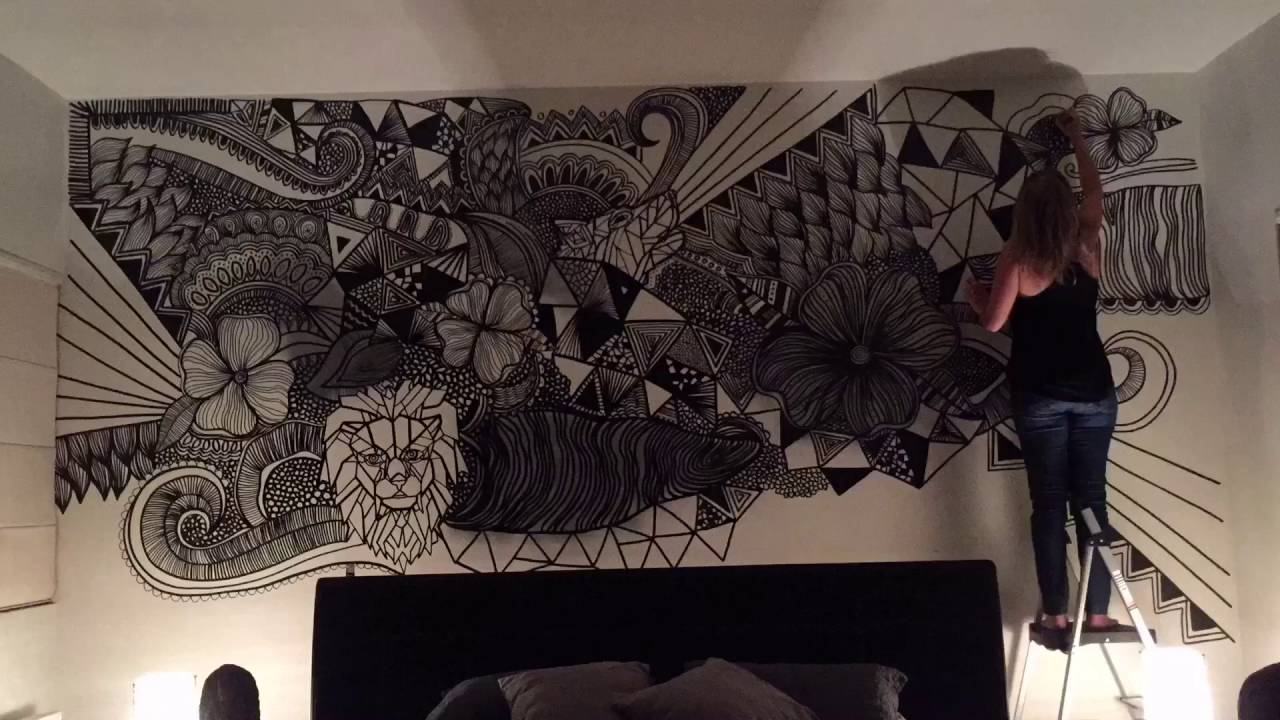 Done Zentangle Art Mural Youtube