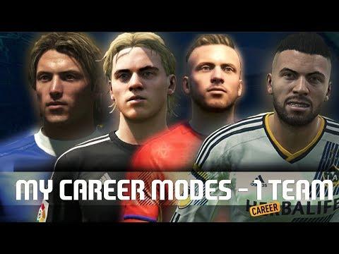 ALL MY FIFA CAREER MODE PLAYERS ON ONE TEAM! - (BARCLAY/ALEX-ROBERTO/FLYNN/KLAASEN)