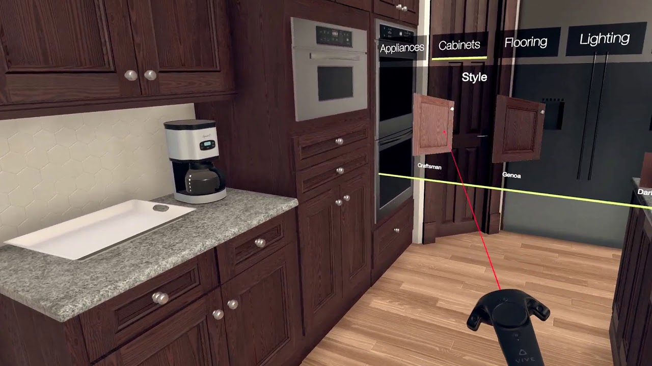 Virtual Reality Kitchen Remodel