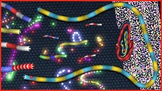 WORLDS LARGEST SLITHER.IO TRAP - Slither.io Gameplay (Playing With Slither.io Mods)