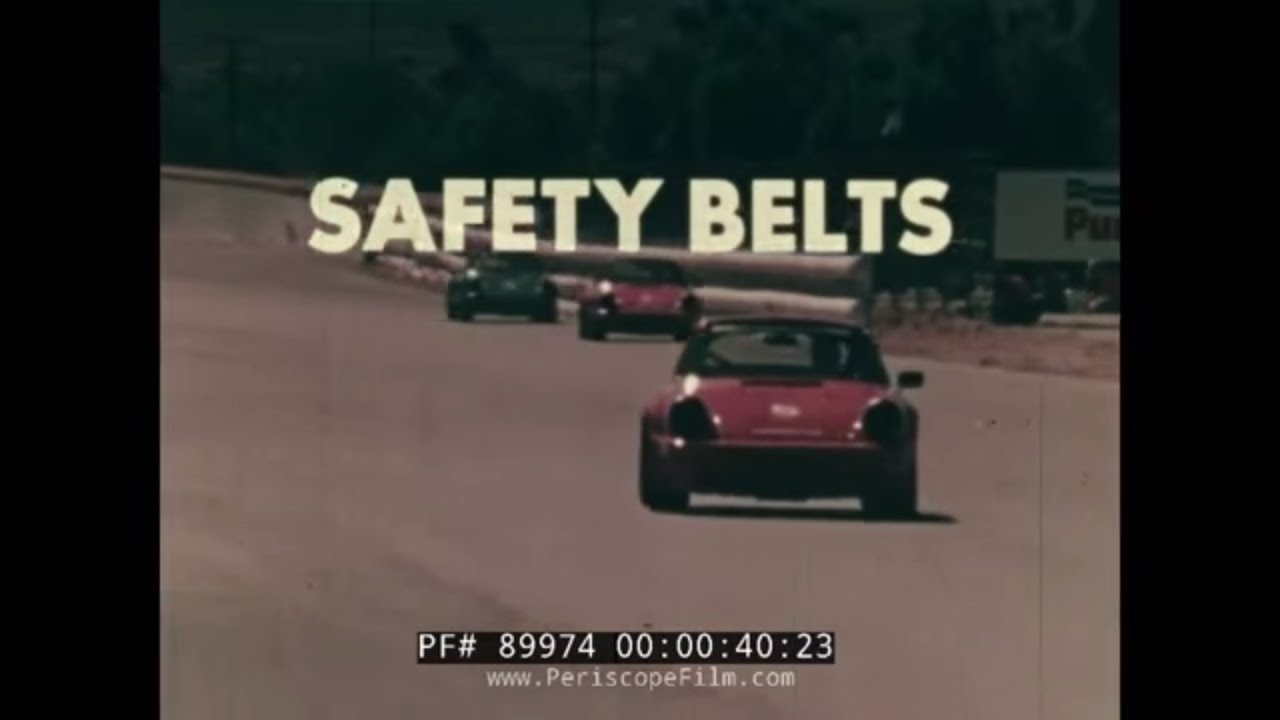 SAFETY BELTS A SMASHING SUCCESS UCLA AUTO SAFETY & SEATBELT PROMOTIONAL  FILM 89974