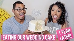 Eating Our Wedding Cake 1 Year Later! 1 Year Wedding Anniversary! | BiancaReneeToday