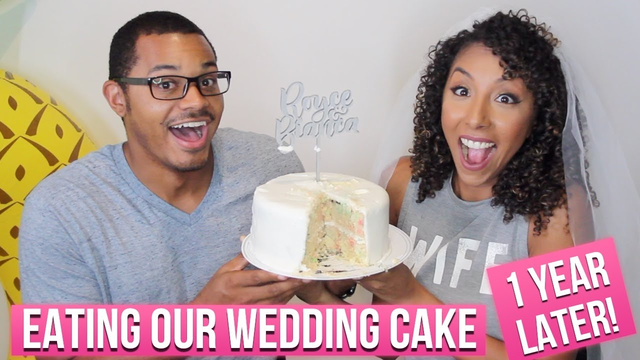 eating wedding cake 1 year later our wedding cake 1 year later 1 year wedding 13870