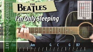 The Beatles - I'm Only Sleeping | guitar lesson