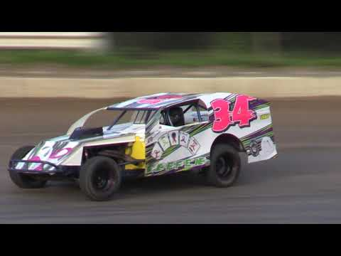 PJ Wiggins Memorial Open Wheel Modified event. Great racing, sldo Pure Stock, V8 Thunder Stocks, TQ Late models, wingless Mini Sprints and Outlaw 4s. - dirt track racing video image