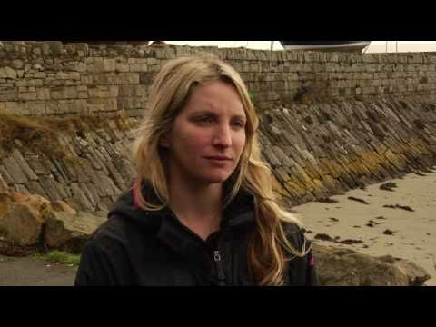 Easkey Britton at the Billabong Tow-in Surf  competition in Mullaghmore