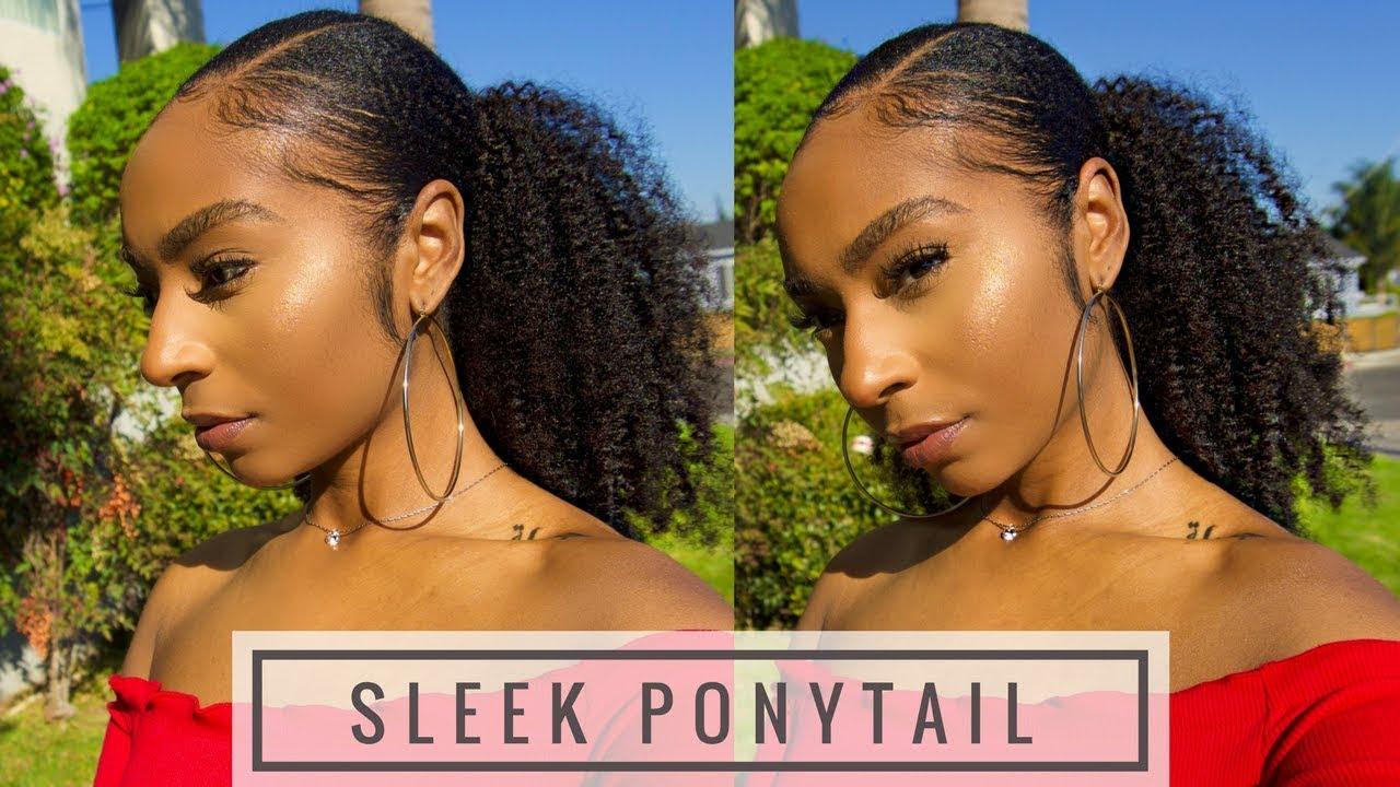 How To Do Sleek Ponytail On Type 4 Hair Short/Medium