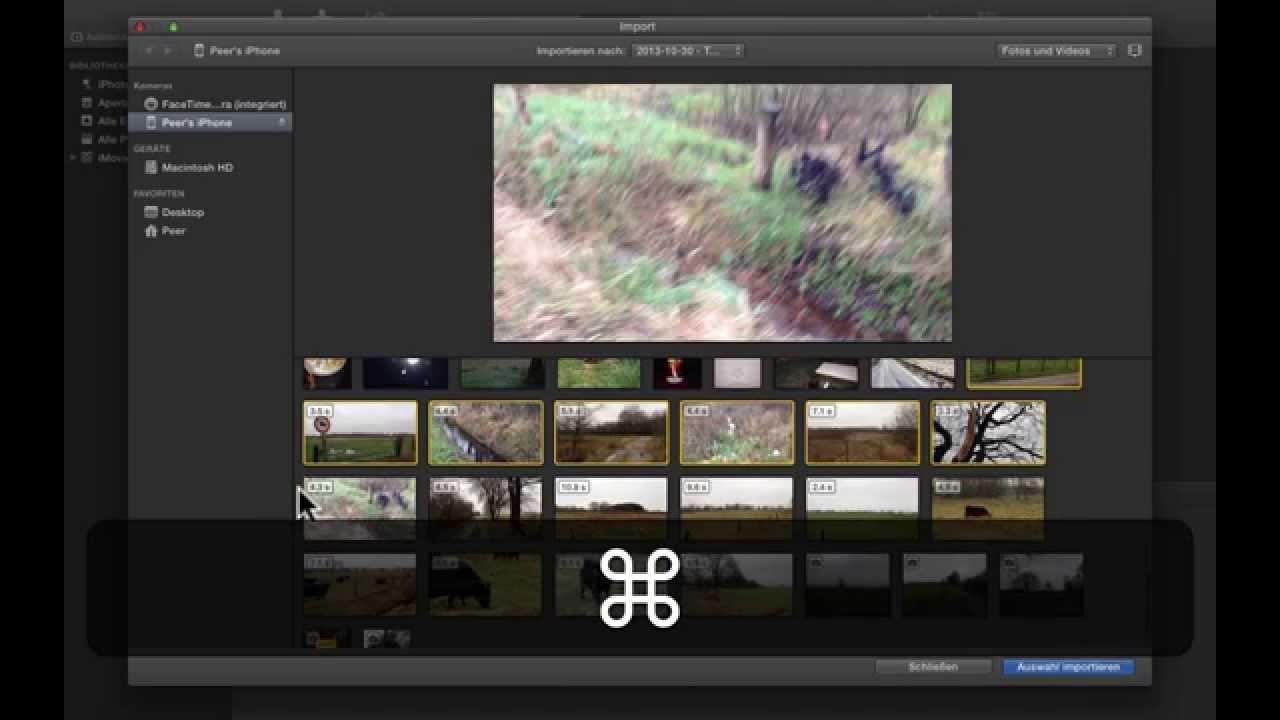 iMovie am Mac - Teil 1