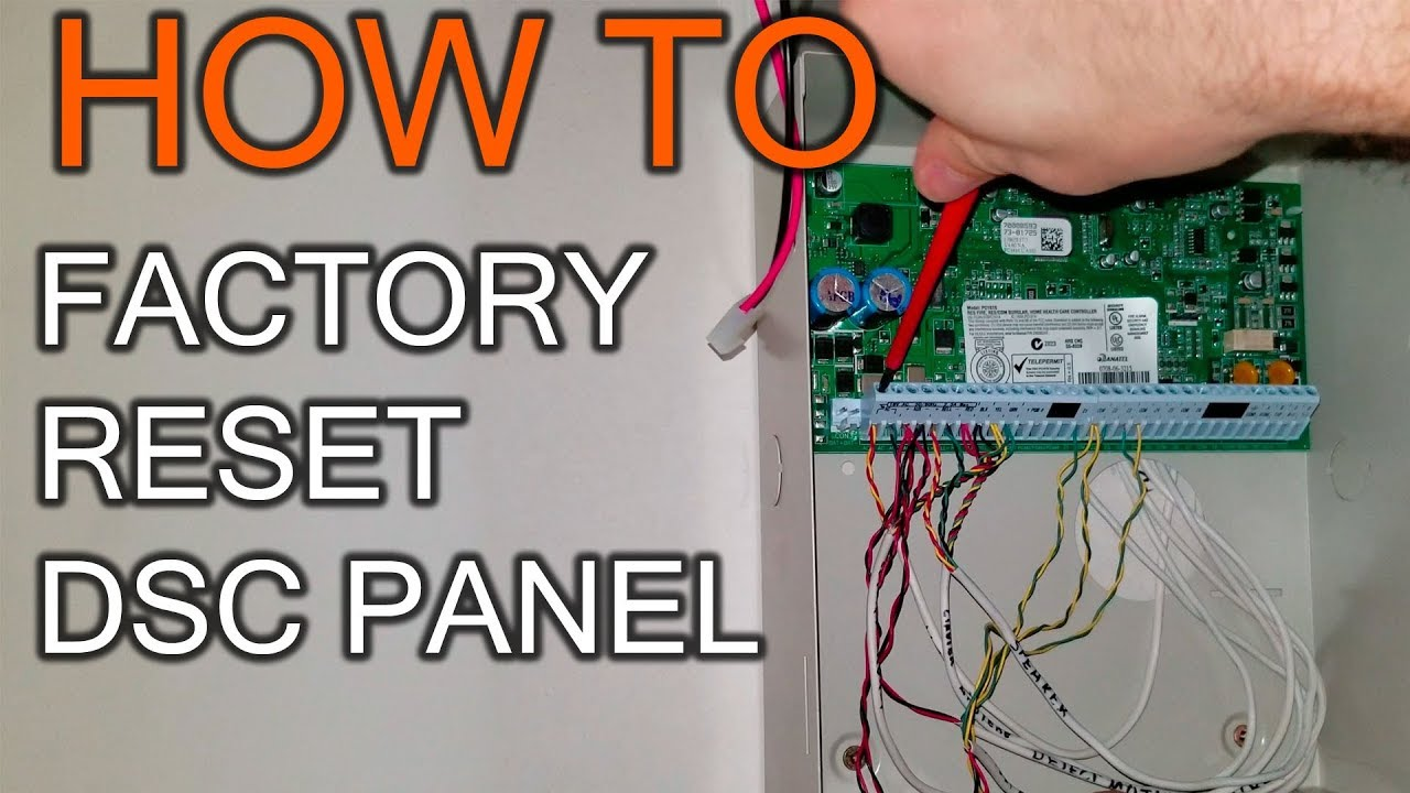 How to Factory restore DSC Panel