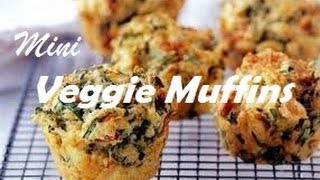 Healthy Veggie Mini Muffins ^_^