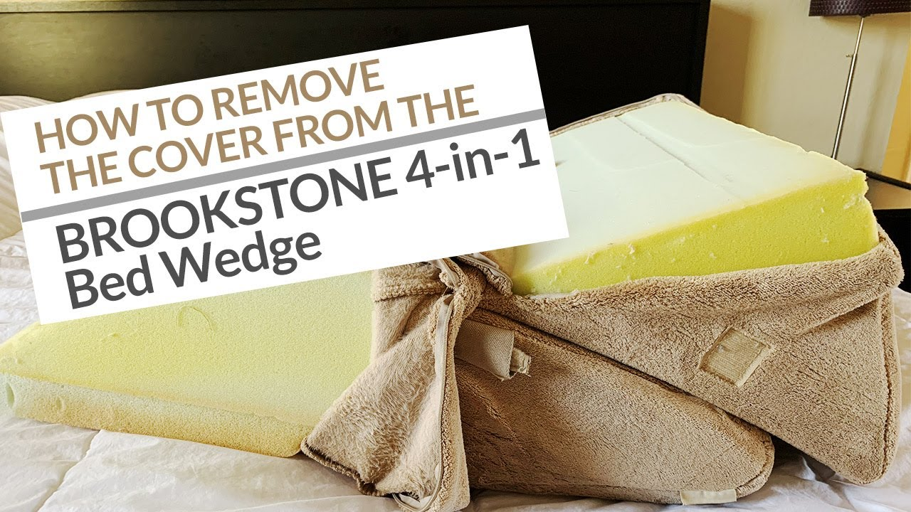 remove 4 in 1 bed wedge pillow cover so you can wash it
