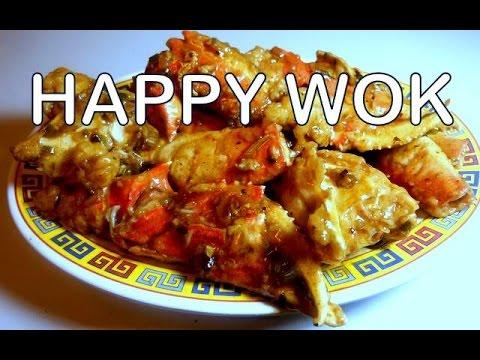 蟹豉蒜 Stir Fry:  Crab With Black Bean And Garlic Sauce : Authentic Chinese Cooking