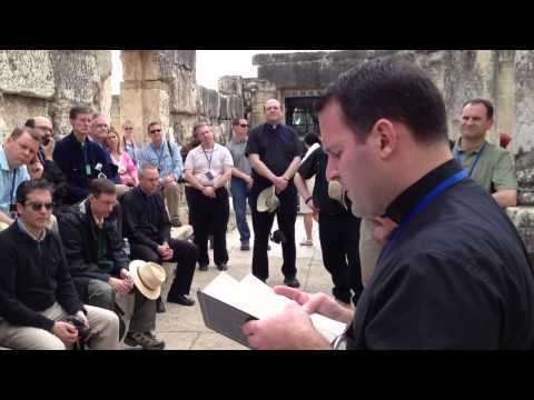 Reading the Gospel in the Synagogue in Capernaum