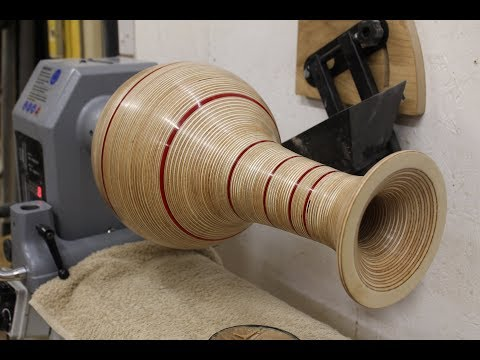 Woodturning - The Plywood and Perspex Vase #RocklerPlywoodChallenge