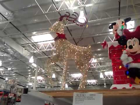 Lighted Deer LED Lights Costco - YouTube - costco christmas decorations