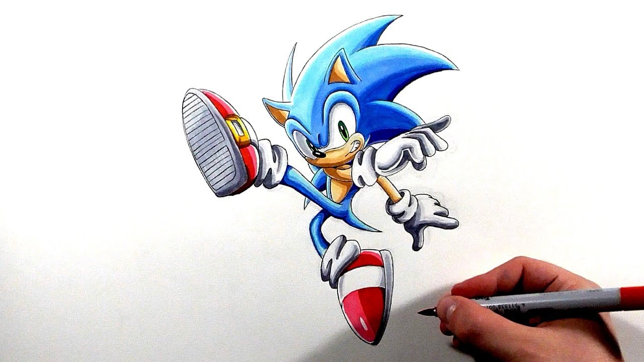 Drawing Sonic Smash Bros Ultimate Pose