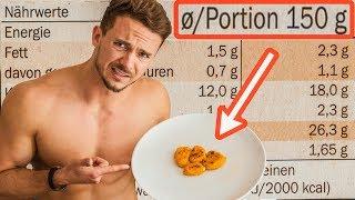 1 Tag lang nach empfohlenen Portionsgrößen essen