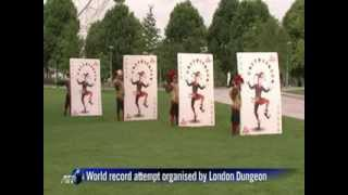 Jesters unveil giant playing cards in London Video  NDTV com