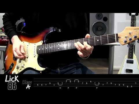 Andy's Lab - Daily Blues Licks #86 - Guitar Lesson