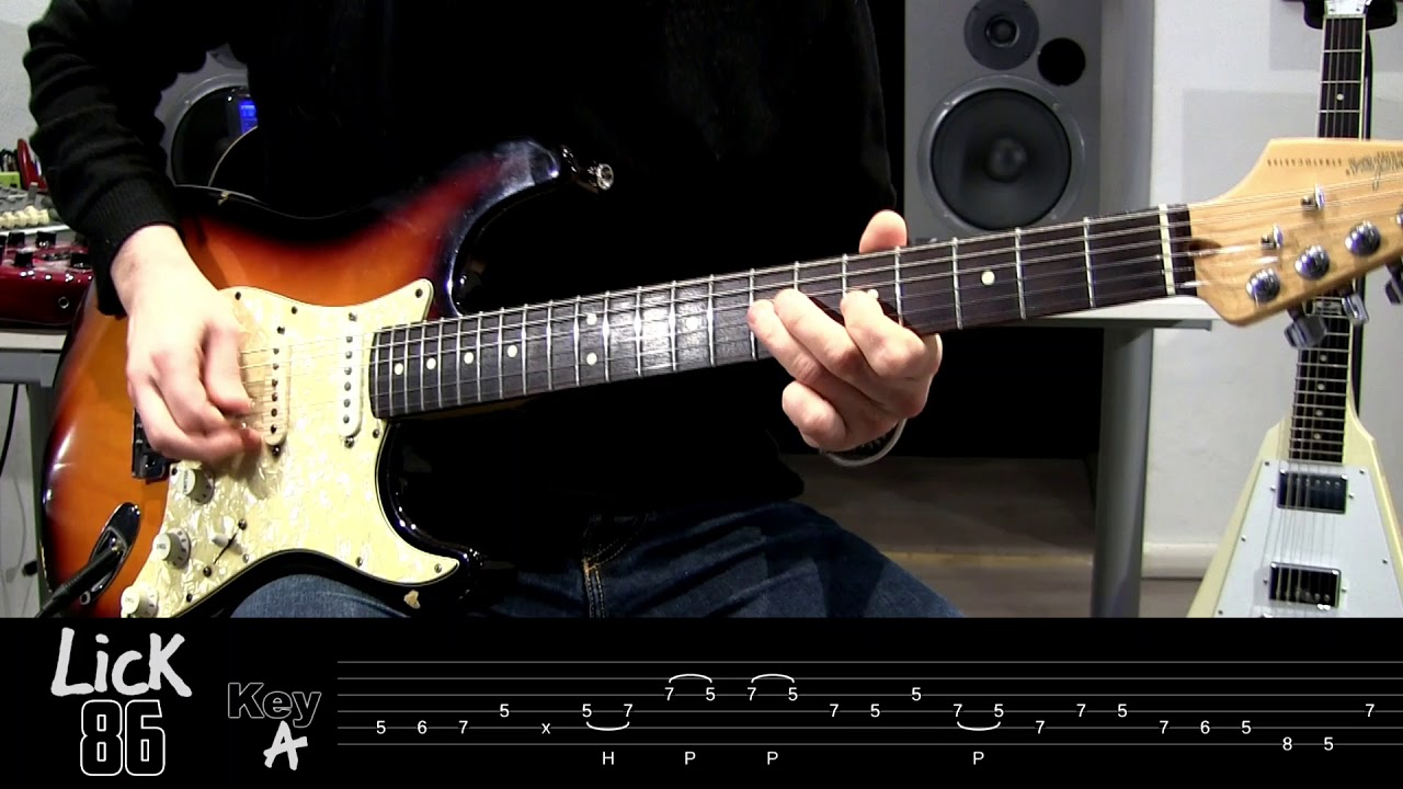 andy 39 s lab daily blues licks 86 guitar lesson youtube. Black Bedroom Furniture Sets. Home Design Ideas