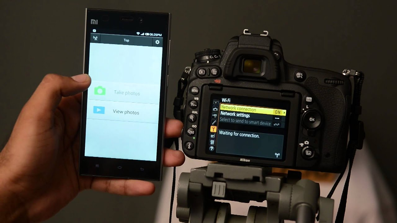 nikon D750: how to click or transfer photos on mobile devices ( andriod  ,iphone, ipad ) via wifi
