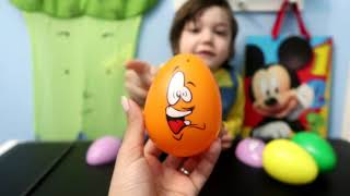 Learn Colors with Surprise Eggs Toys for Kids