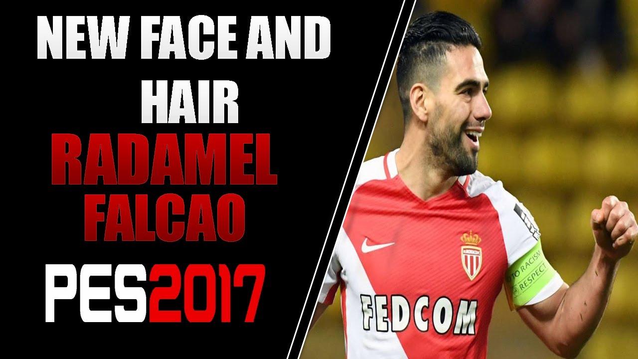 نتيجة بحث الصور عن PES2017 PC | New Face & Hair RADAMEL FALCAO 17/18 + Instalacion | Full HD
