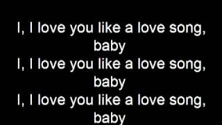 Selena Gomez I Love You Like A Love Song Lyrics YouTube