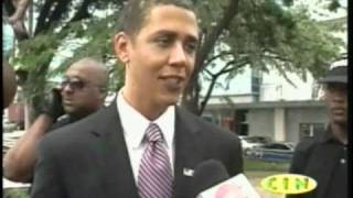 Reggie brown obama look alike in Trinidad and Tobago