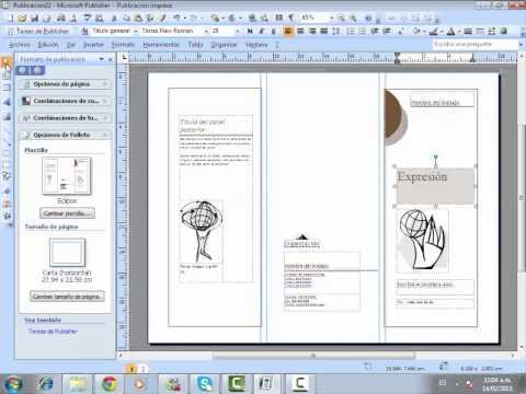 Como hacer un folleto en publisher - YouTube