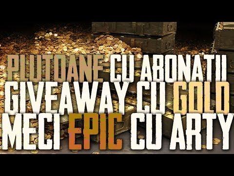 💰♥️🤑2*500 gold pentru chat + Plutoane cu abonatii + Epic arty blindshots! WoT Romania