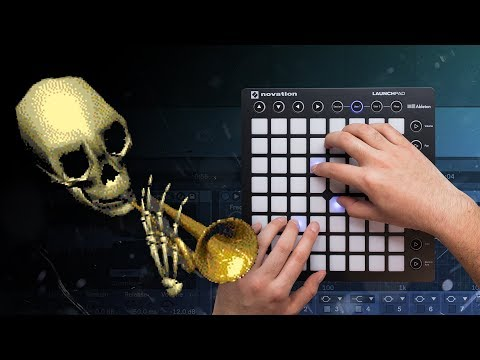 Making Music With Skull Trumpet