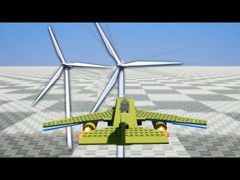 Самолет Против Ветряков - Brick Rigs | Лего Краш Тест
