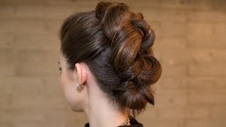 Easy Knotted Faux Mohawk Updo