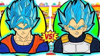 Huevos Sorpresa Gigantes de Goku VS Vegeta de Dragon Ball Super de Plastilina Play Doh en Español
