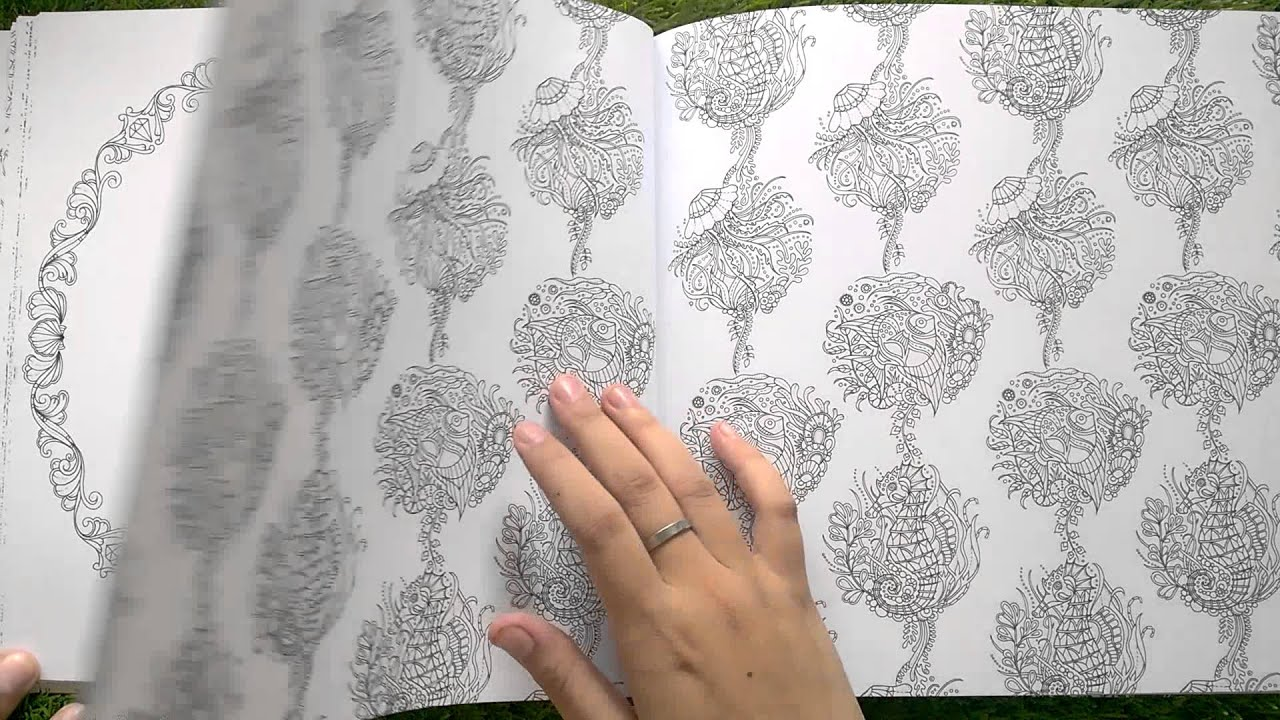 Lost Ocean Coloring Book Review Sach To Mau Dai Duong Mat Tich