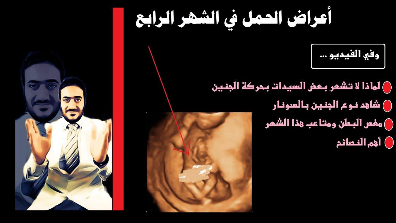 الحمل في الشهر الرابع وحركة الجنين التي لا تشعر بها الحامل و ظهور نوع الجنين وسبب مغص الشهر الرابع Youtube