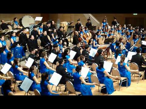 Orchestra of Radio Shaanxi and Province of Zhejiang. part2 (09.02.2017) Moscow
