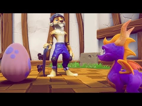 Spyro Reignited Trilogy - Sunny Villa Full Level + Skateboarding Gameplay
