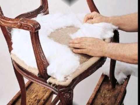 Como restaurar una silla de madera labrada parte 3 como - Como tapizar sillas antiguas ...