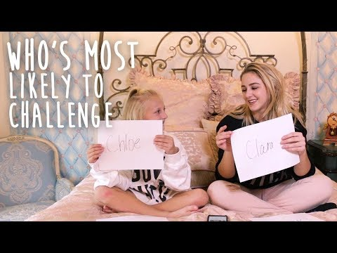 Who's Most Likely Challenge with Chloe! Clara's World