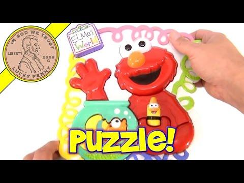 Sesame Street Elmo's World Plastic Puzzle, Mattel Toys 2001
