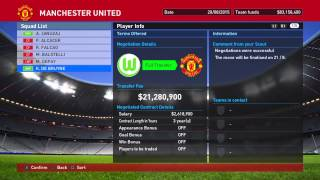 PES 2016 Master League Manchester United Transfer [HD]