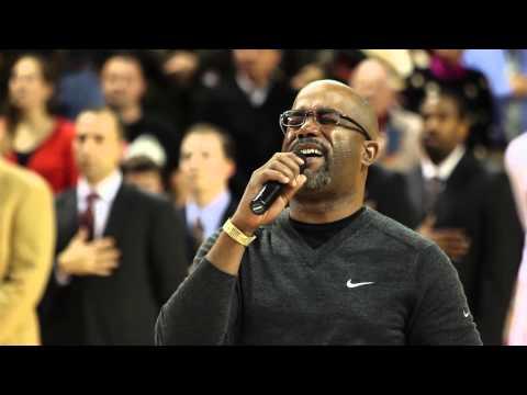 Darius Rucker Sings The National Anthem -- College Of Charleston Basketball
