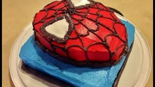 instant video play how to make a spiderman cake spider. Black Bedroom Furniture Sets. Home Design Ideas