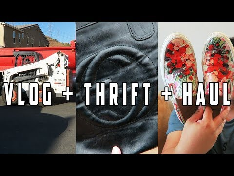 VLOG, THRIFT, & HAUL - MY CAR BROKE DOWN & THEY STARTED THE POOL!