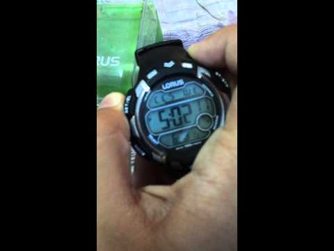 How to change lorus  watch time