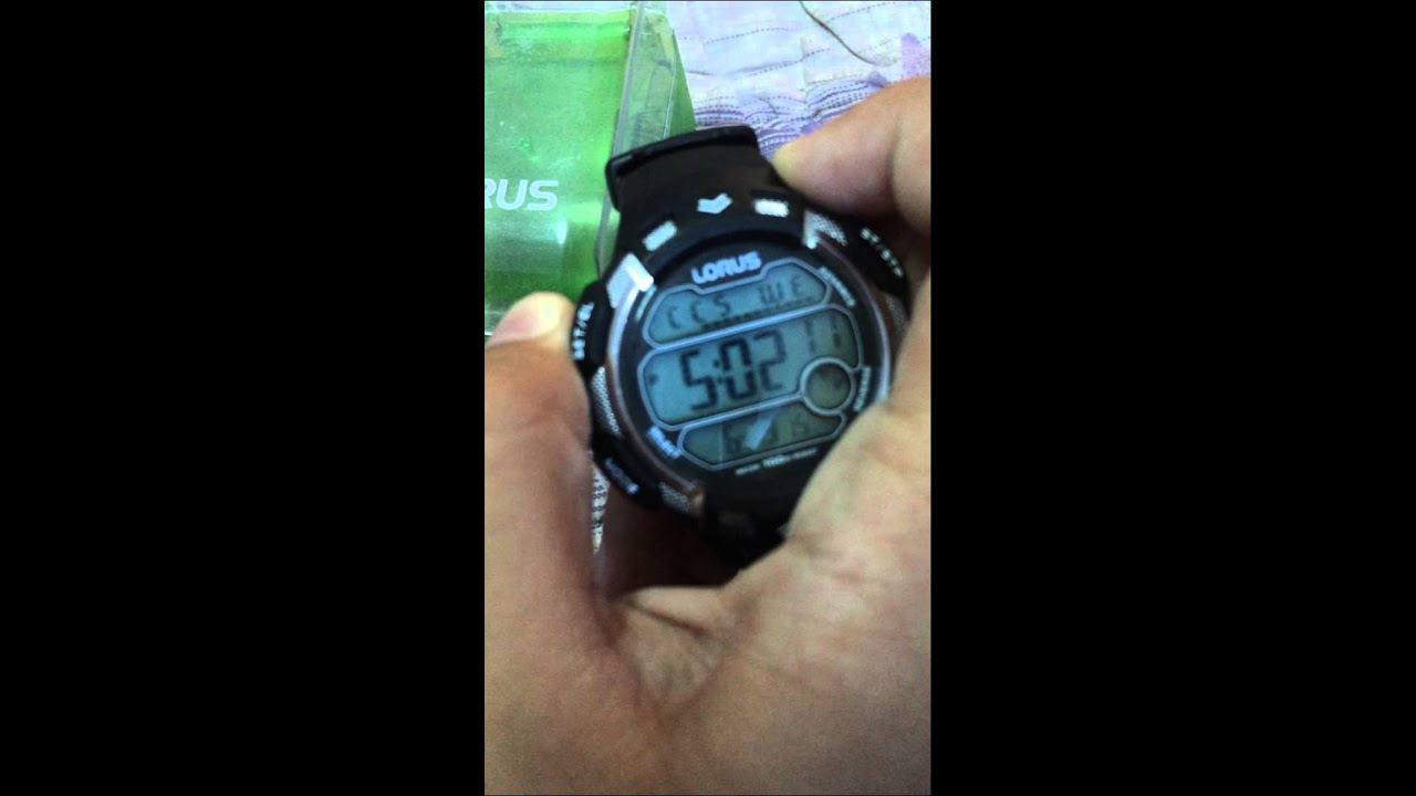How To Change Lorus Watch Time Youtube